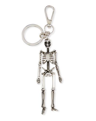 Men's Skeleton Key Ring  Silvertone