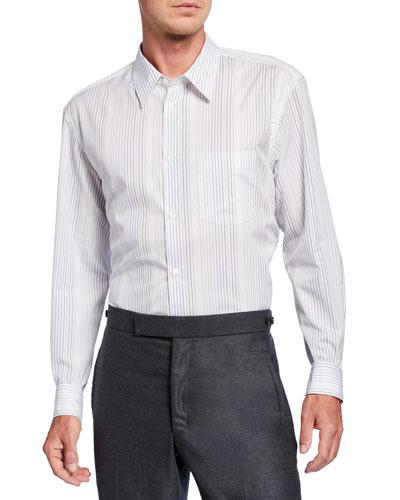 Men's Reyes Striped Button-Down Shirt