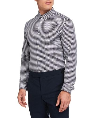 Men's Quevedo Houndstooth Sport Shirt