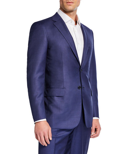 Men's High-Sheen Solid Two-Piece Suit