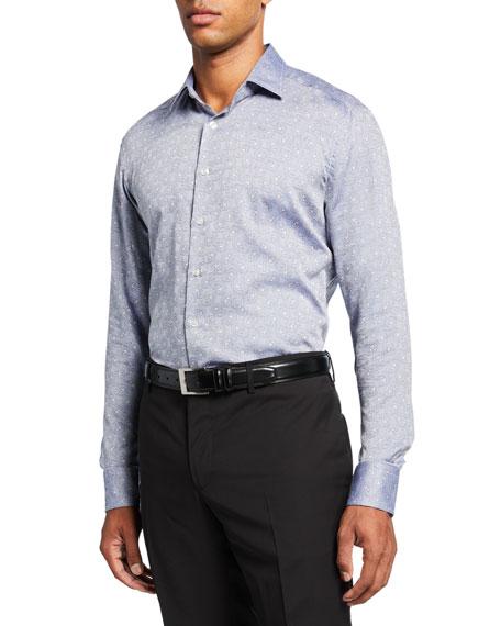 Men's Paisley Gem Jacquard Sport Shirt