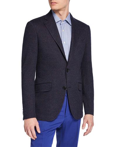 Men's Herringbone Jersey Sport Coat