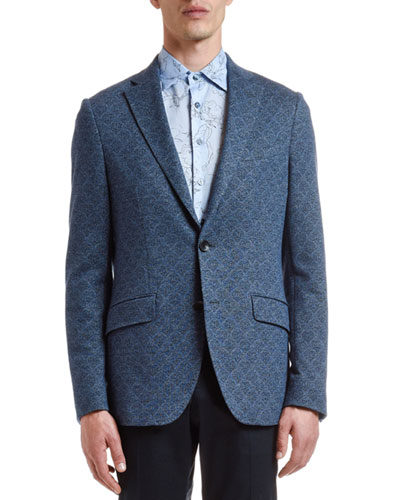 Men's Cotton/Wool Jacquard Sport Coat