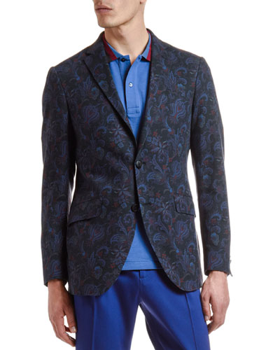 Men's Cotton/Wool Paisley Sport Coat