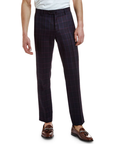 Men's Wool Plaid Suit Separate Trousers