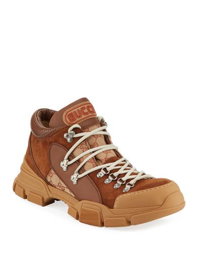 Men's Flashtrek GG Canvas & Suede Sneakers
