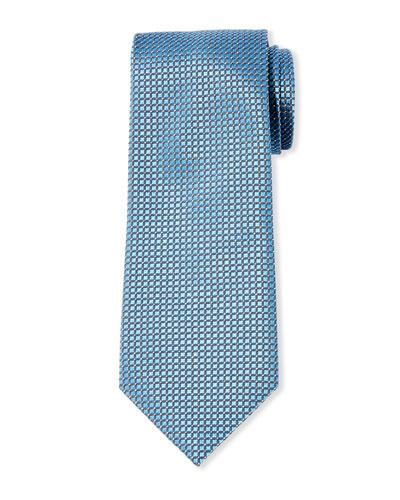 61d2976391b6 Men's Micro-Check Mulberry Silk Tie Quick Look. Giorgio Armani