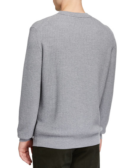 Men's Textured Cashmere-Blend Sweater