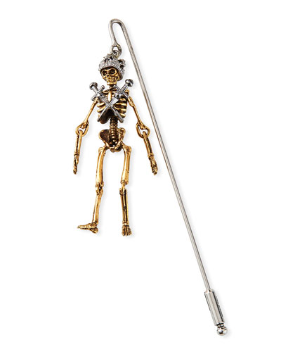 Men's King Skeleton Lapel Pin