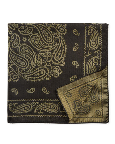 Paisley Silk-Blend Pocket Square