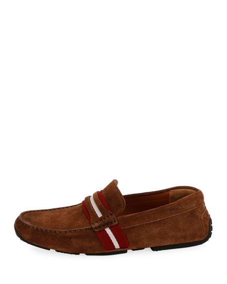 Men's Pietro Webb Suede Drivers w/Trainspotting Strap