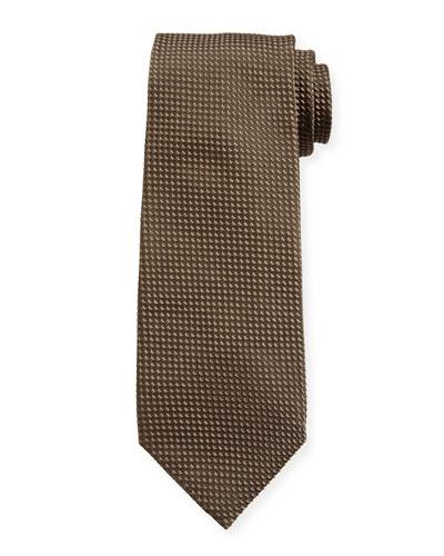 Men's Tonal Dot Silk-Blend Tie