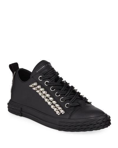 Men's Studded Blabber Leather Sneakers