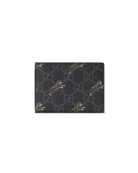 Men's GG Supreme Tiger-Print Wallet