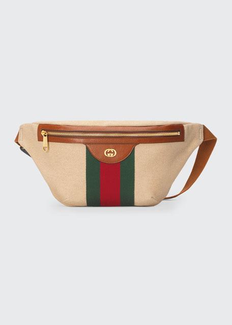 Men's Signature Web Vintage Canvas Belt Bag