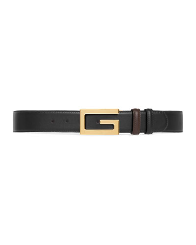 Men's Retro G Reversible Leather Belt