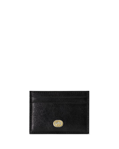 a99ba6bfc88 Men s GG Logo Leather Card Case Quick Look. Gucci