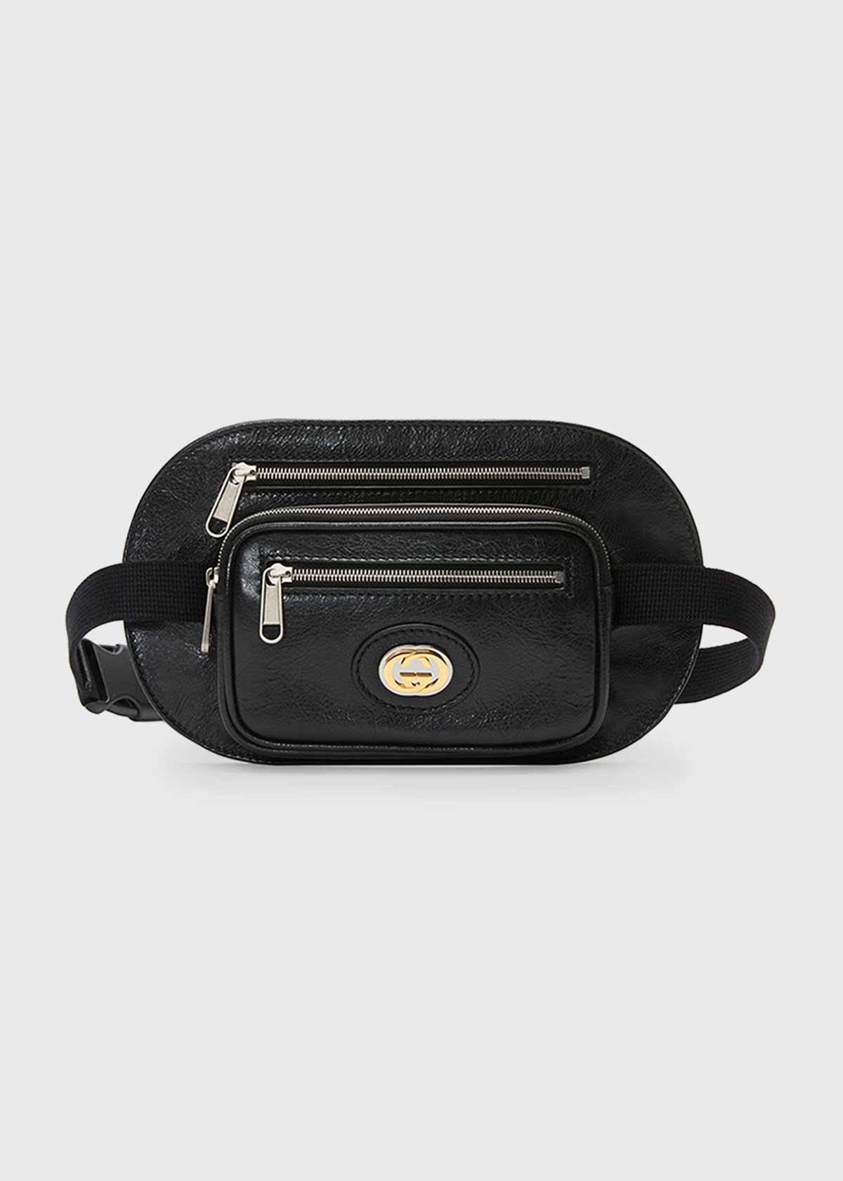 pretty and colorful new product great discount sale Men's Three-Pocket Leather Belt Bag