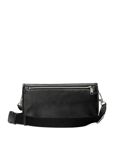 Men's Leather Crossbody Messenger Bag