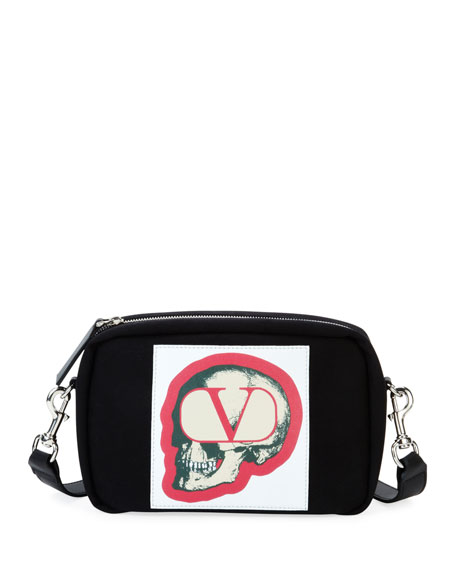 Men's V Logo with Undercover Skull Crossbody Bag