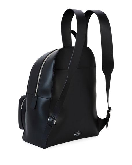Men's VLTN Leather Backpack