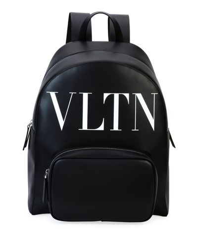 Men's VLTN Leather Backpack