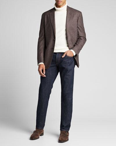 Men's Melange Gingham Check Sport Jacket