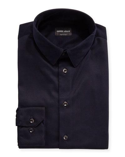 Men's Stretch Jersey Sport Shirt  Navy