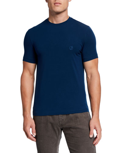 Men's Jersey-Stretch Crewneck T-Shirt