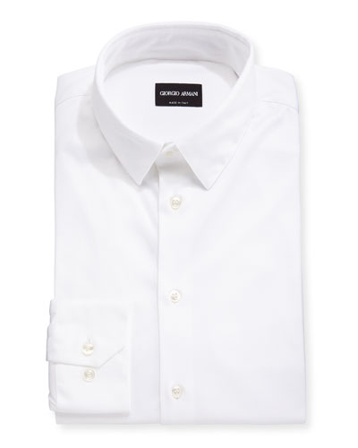 Men's Stretch Jersey Sport Shirt  Off White