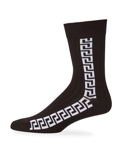 Men's Athletic Vertical Stripe Socks