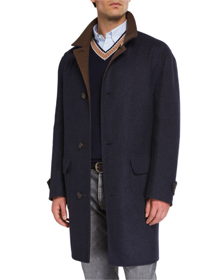 Men's Reversible Wool Topcoat
