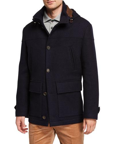 Men's Wool Paddington Coat