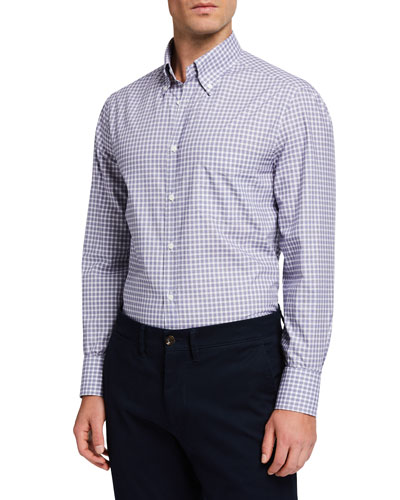 Men's Check Basic-Fit Sport Shirt