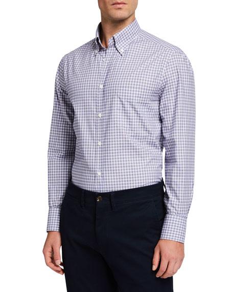 Men's Check Basic-Fit Sport Shirt