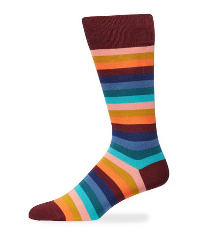 Men's Simba Stripe Knit Socks