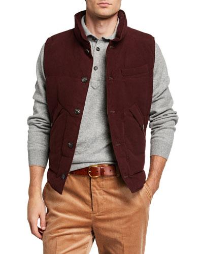 Men's Button-Front Vest