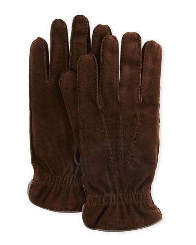 Men's Three-Cord Suede Gloves