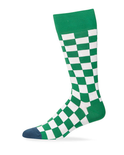 Men's Checkerboard Knit Socks