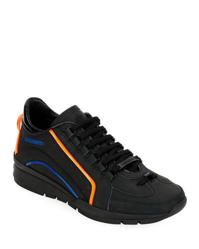 Men's Tonal w/Neon Trainer Sneakers