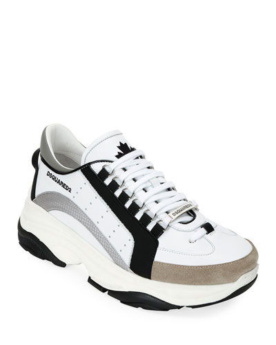 Men's Colorblock Chunky Runner Sneakers  Black/White
