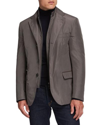 Men's Nylon Travel Blazer w/ Removable Dickey