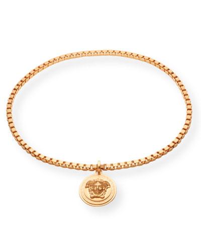 Men's Medusa Head Box Chain Necklace
