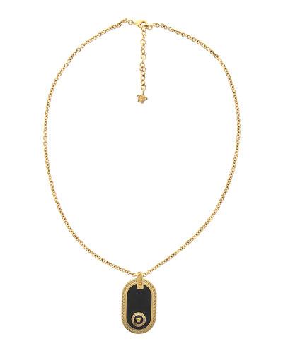 Men's Resin Medusa Pendant Necklace
