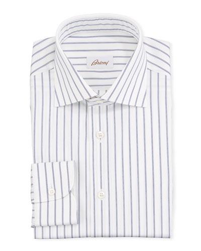 Men's Striped Cotton Dress Shirt