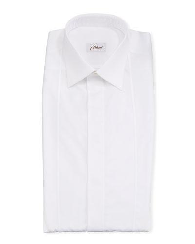 Men's Bib-Outline Formal Dress Shirt