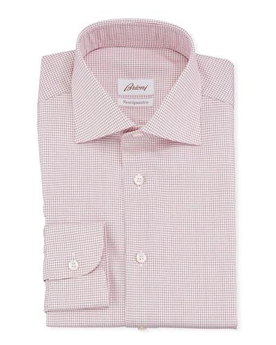 Men's Ventiquattro Graph Check Dress Shirt