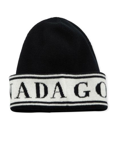 Men's Wool Logo Toque Beanie Hat