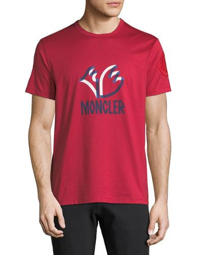 4362a771 Men's Moncler Genius Felted Logo Graphic T-Shirt Quick Look