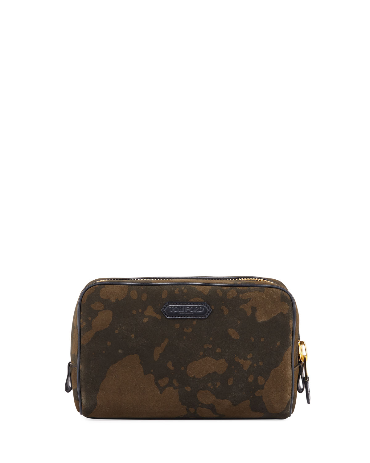 Tom Ford Travel Men's Camo Suede Travel Toiletry Case